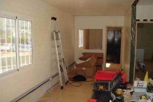 Ajout de cloisons et revêtements murs et sols
