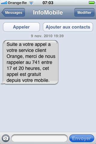 Orange ne vous appele pas