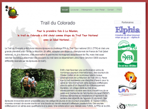Site internet du Trail du Colorado
