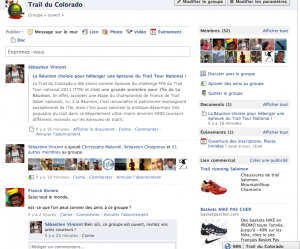 Groupe Facebook du trail du Colorado
