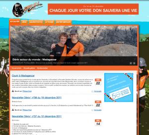 Le site internet du Club Déniv à l'île de la Réunion